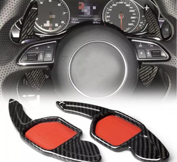 Carbon Optik Schaltwippen Verlängerung Passend Für Audi alle Modelle Seat Leon 5F Cupra FR