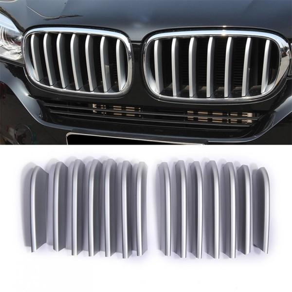 Kühlergrill Frontgrill Rippen Rahmen Blende Passend Für BMW X5 F15 X6 F16 Matt Chrome