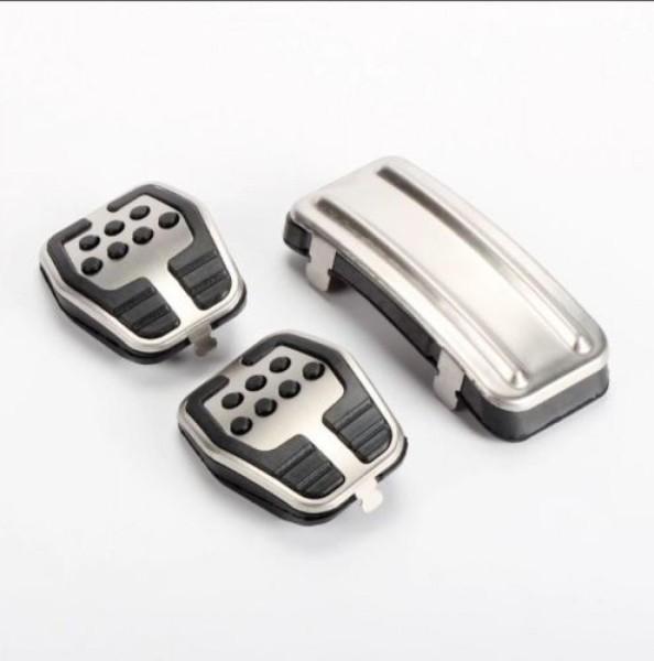 Pedale Pedalkappen aus Edelstahl Passend Für Ford Kuga Focus 2 3 MK3 MK2 für Schaltgetriebe
