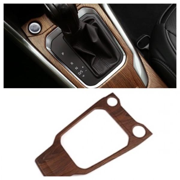 Mittelkonsole Schaltknauf Rahmen Blende Abdeckung Holz Optik Passend Für VW T-Roc TDI TSI