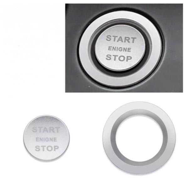 Start Stop Ring Abdeckung Alu Silber Passend Für Land Rover Sport Discovery Sport Velar Evoque