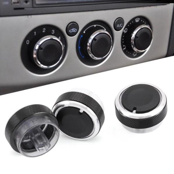 Klima Heizungsregler Drehknopf Passend Für Ford Focus MK2 MK3 in Schwarz