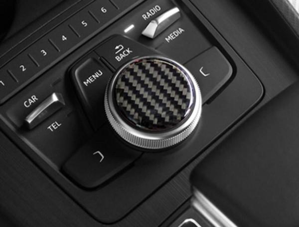 Multimedia Flex Carbon Drehknopf Abdeckung Blende Passend Für Audi A4 S4 RS4 B8 A5 S5 RS5 Q5 SQ5