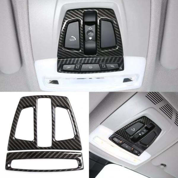 Lichtschalter Rahmen Blende Abdeckung Carbon Flex Passend Für BMW 3er M3 F30 F34 GT X1 F48 X2 F47 X5 F15 X6 F16