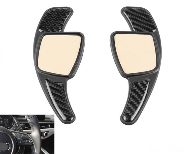 Schaltwippen Verlängerung Shift Paddels Carbon Optik Passend Für Audi A1 A3 A4 A5 A6 A7 Q3 Q5