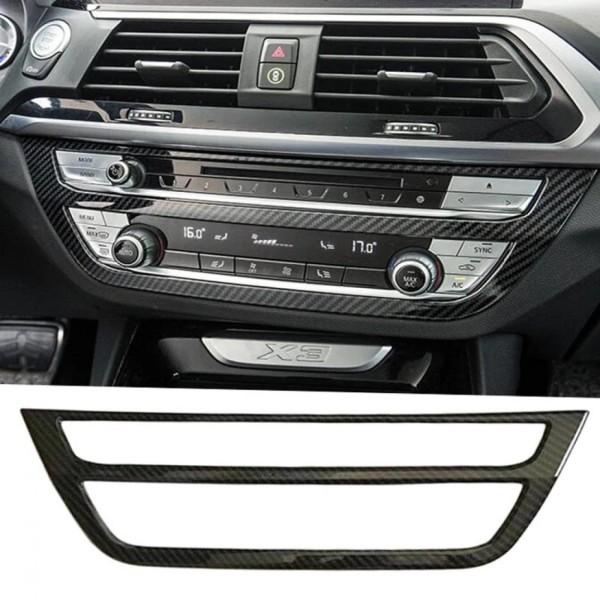 Radio Klima Rahmen Blende Carbon Optik Passend Für BMW X3 G01