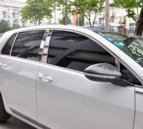 Edelstahl Chrom Säulen Rahmen Leisten Passend Für VW Golf 7 MK2 GTI GTD Club Sport