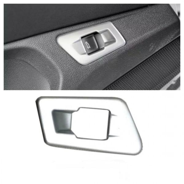 Kofferraum Heckklappe Druckknopf Rahmen Blende Passend Für VW T-Roc TDI TSI  Silber Matt
