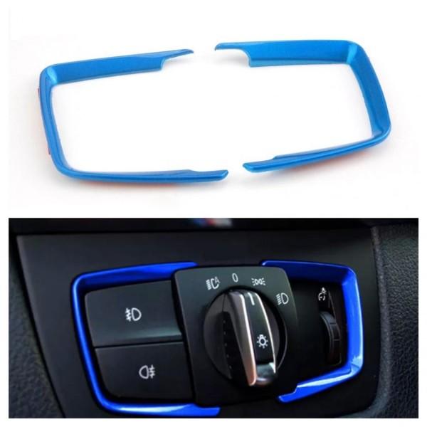 Lichtschalter Rahmen Blende ABS Blau Passend für BMW 3er F30 F31 F34 3GT 4er F36