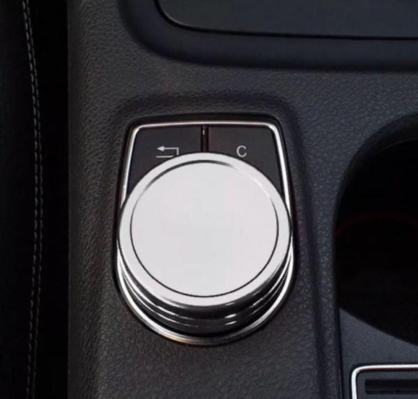 Multimedia Regler Ringe Rahmen Passend Für Mercedes Benz AMG A Klasse B Klasse GLA CLA Silber