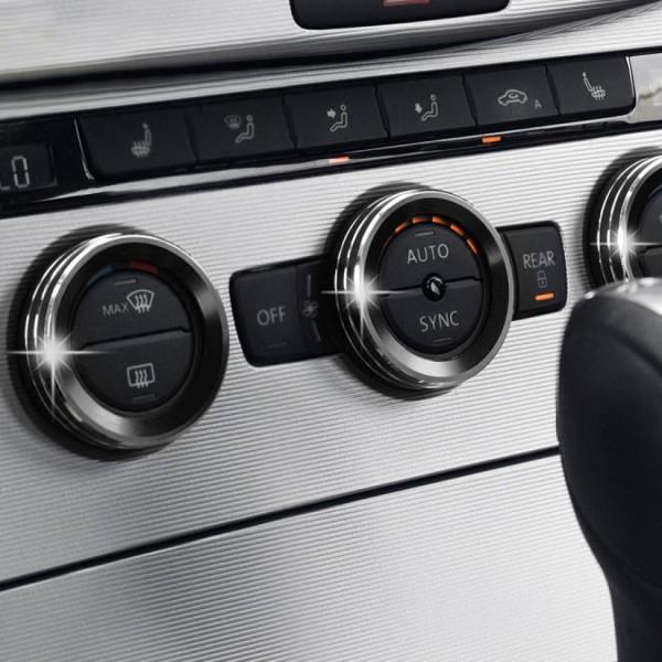 Klima Heizung Aluring Abdeckung Schwarz Passend Für VW Tiguan 2 AD1 Passat B8 Touran T Roc T Cross