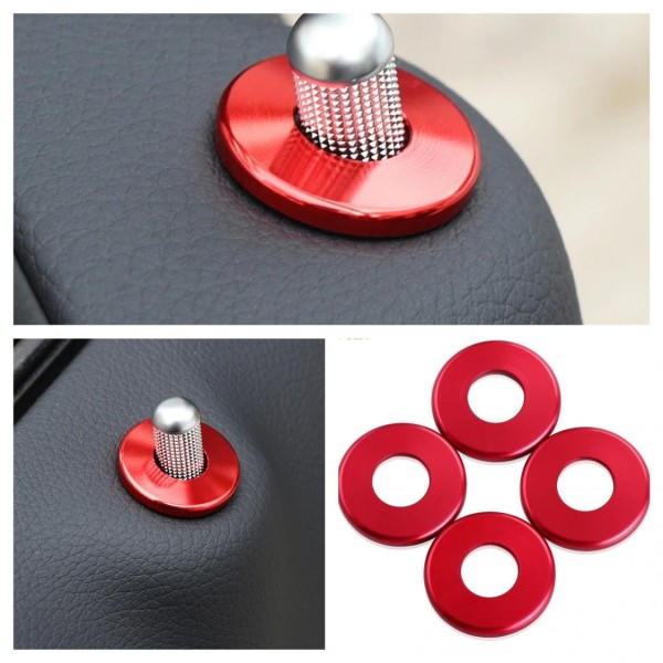 Pin Türschloss Ringe Rahmen Rot Passend Für Mercedes Benz C W205 E W213 GLC
