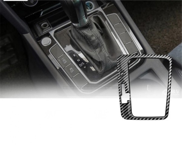 Mittelkonsole Schaltknauf Rahmen Blende Abdeckung Edelstahl Carbon Optik Passend Für VW T-Roc TDI TSI