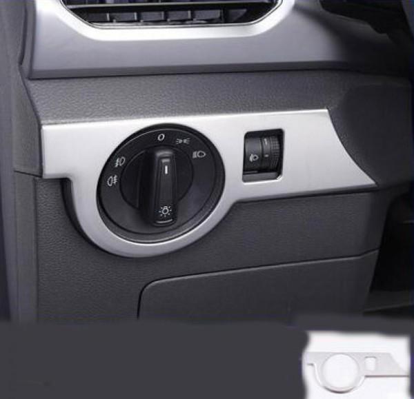 Edelstahl Lichtschalter Blende Abdeckung Rahmen Silber Matt Passend Für VW T-Cross TDI TSI