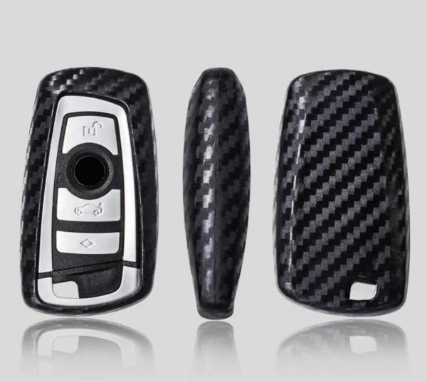 Schlüssel Gummi Cover Schlüsselhülle Carbon Optik Passend Für BMW F05 F10 F20 F30 Z4 X1 X3 X4 X5 X6