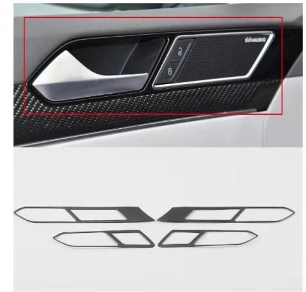 Edelstahl Schwarz Liniert Türgriff Rahmen Blende Abdeckung Passend Für VW Passat B8 Arteon