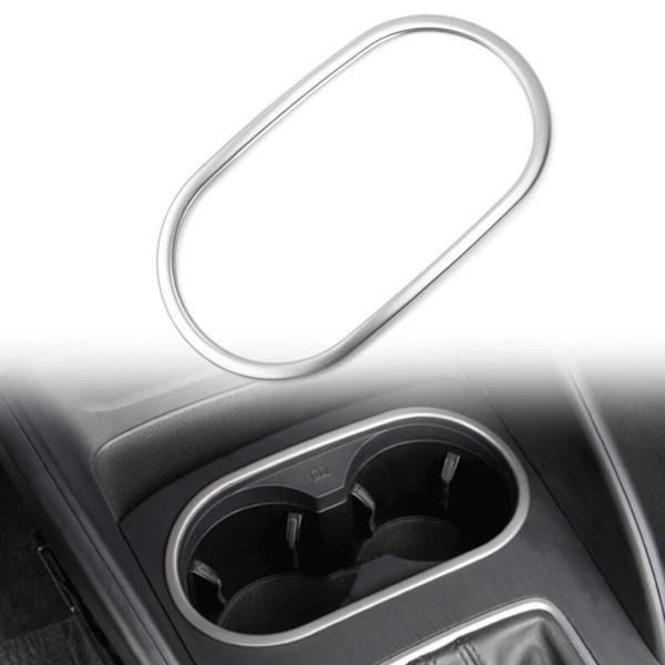 Edelstahl Getränkehalter Blende Rahmen Abdeckung Passend Für Audi A3 8V ab 2013