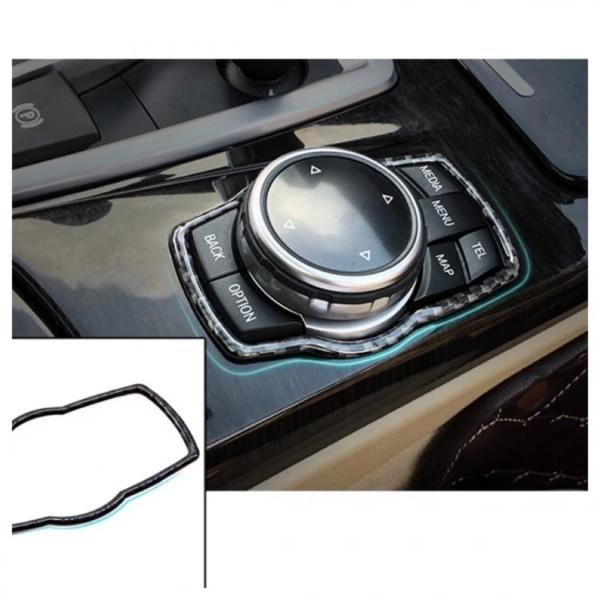 Mittelkonsole Multimedia Steuerung Rahmen Blende Abdeckung Flex Carbon Passend Für BMW 1er - 7er