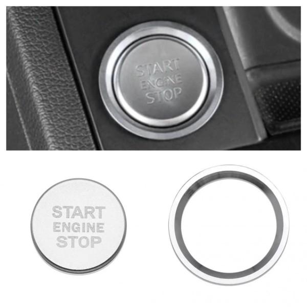 Start Stop Ring Abdeckung Alu Silber Passend Für VW Golf 7 Tiguan T-Roc Passat B8 Arteon Caddy