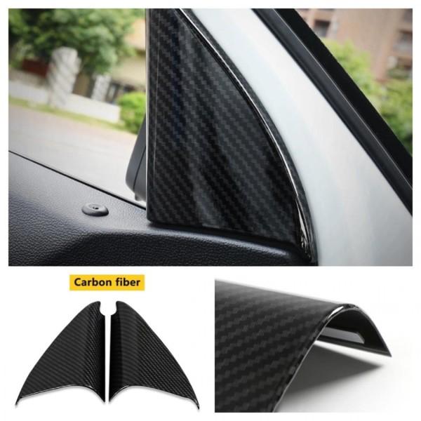 Tür Ihnen Säulen Rahmen Blende Abdekcung in Carbon Optik Passend Für VW T-Cross TSI TDI 4Motion