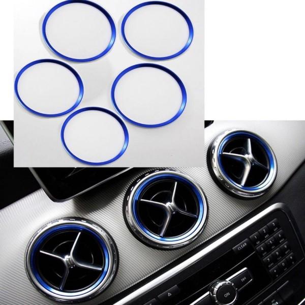 Lüftungsringe Rahmen Passend Für Mercedes Benz A Klasse B Klasse GLA CLA AMG Blau
