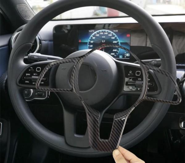 Carbon Optik Lenkrad Blende Rahmen Abdeckung Passend Für Mercedes Benz A B C E G CLA CLS GLC GLE GLS GLB EQC