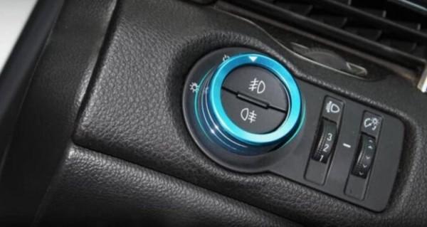 Lichtschalter Alu Ringe Passend Für Opel Mokka Blau
