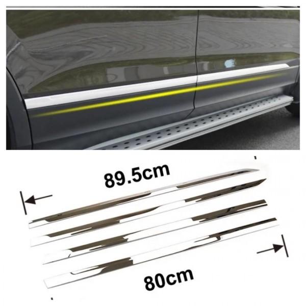 Edelstah Seiten Leisten Chrome Abdeckung Rahmen Blenden Passend Für VW Tiguan 2 AD1