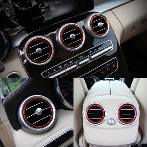 Luftdüse Abdeckung Lüftungsrahmen Passend Für Mercedes Benz C Klasse W205  GLC X253 AMG Rot