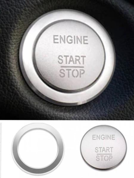 Start Stop Blende Abdeckung Rahmen in Silber Passend Für Mercedes Benz A B C Klasse GLA GLC GLE GL ML