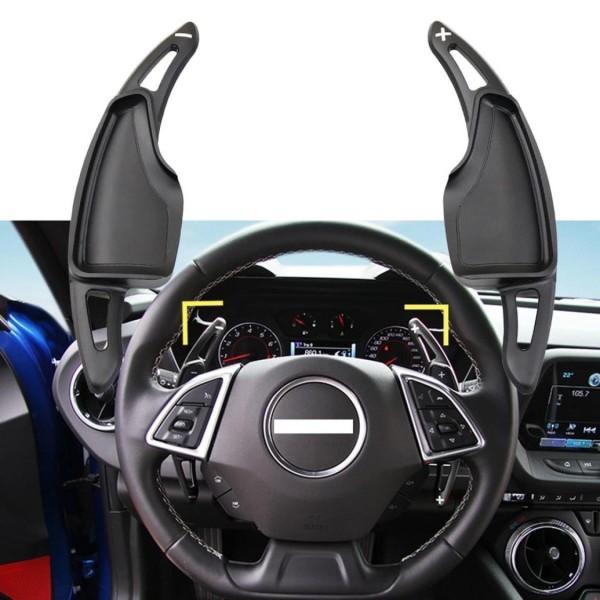 Schaltwippen Verlängerung Aluminium Schwarz Paddels Passend Für Chevrolet Camaro
