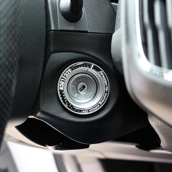 Schlüssel Zündschlüssel Rahmen Abdeckung Passend Für Ford Focus MK2 MK3 Silber