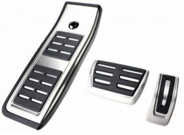 Pedale Pedalkappen aus Edelstahl Passend Für Audi A4 B9 A5 S5 Q5 80A TDI TSI Automatikgetriebe