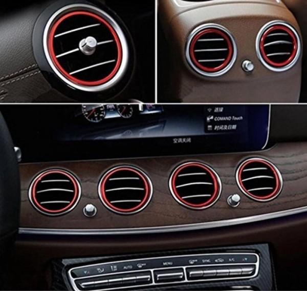 Luftdüsen Abdeckung Lüftungsrahmen Passend Für Mercedes Benz E Klasse W213 AMG Rot