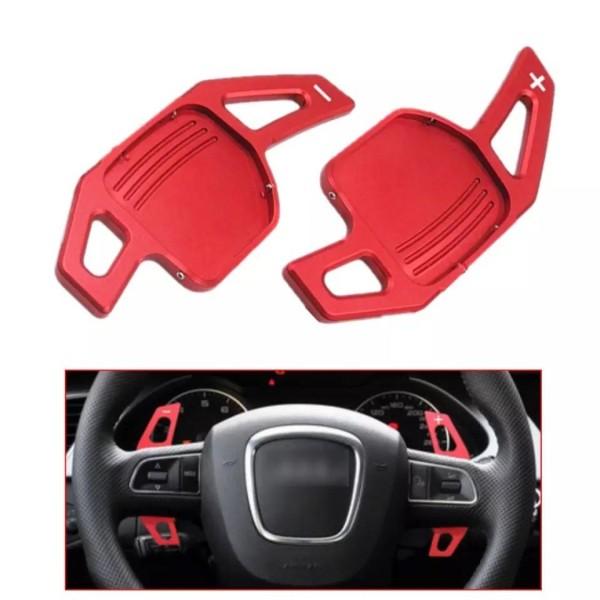 Schaltwippen Verlängerung Paddel Passend für Audi alle Modelle Rot