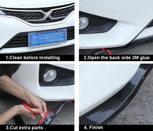 Frontlippe Flex Carbon Blende Passend Für VW Audi Mercedes Benz Ford Opel Kia Nissan Hyundai Fiat