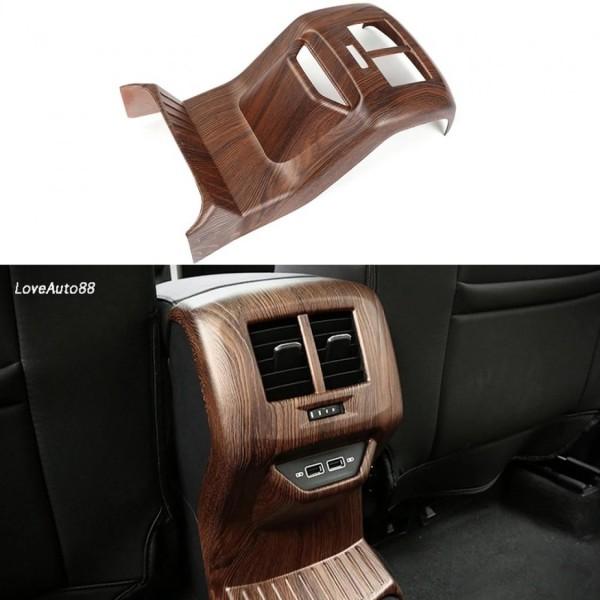 Luftdüsen Lüftung Hinten Konsole Mitte Rahmen Blende Abdeckung Holz Optik Passend Für VW T-Roc