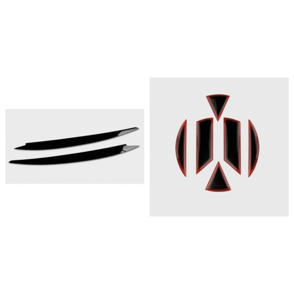 Böser-blick Scheinwerfer Blende Passend Für VW Golf 7 MK7 Schwarz VW Emblem Flex Coating Vorne & Hinten