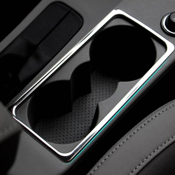 Mittelkonsole Becherhalter Abdeckung Blende Rahmen Edelstahl Chrom Passend Für Skoda Octavia A7