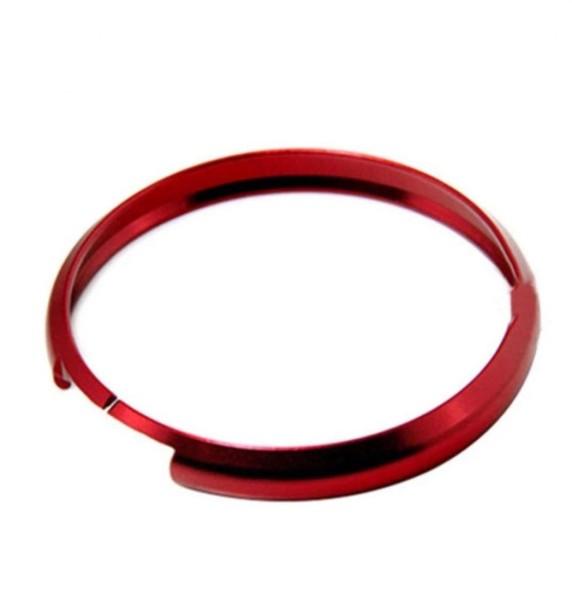 Autoschlüssel Zündschlüssel Alu Ring Passend Für Mini Cooper Rot