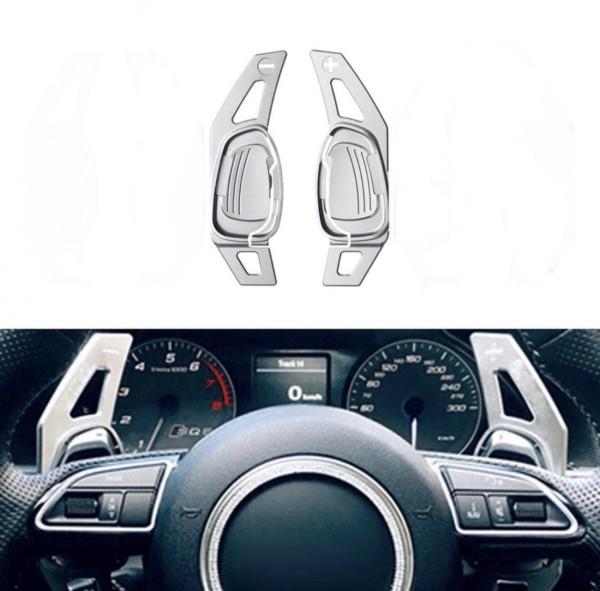 Schaltwippen Verlängerung  Shift Paddels Passend Für Audi S3 RS3 S4 RS4 S5 RS5 S6 RS6 TT R8 in Silber