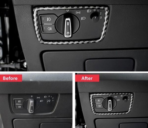 Lichtschalter Rahmen Blende in Carbon Flex Passend Für VW Passat B8