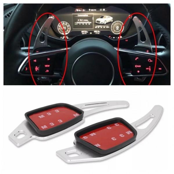 Schaltwippen Verlängerung Shift Paddels in Silber Passend Für Audi A1 A3 A4 A5 A6 A7 Q3 Q5