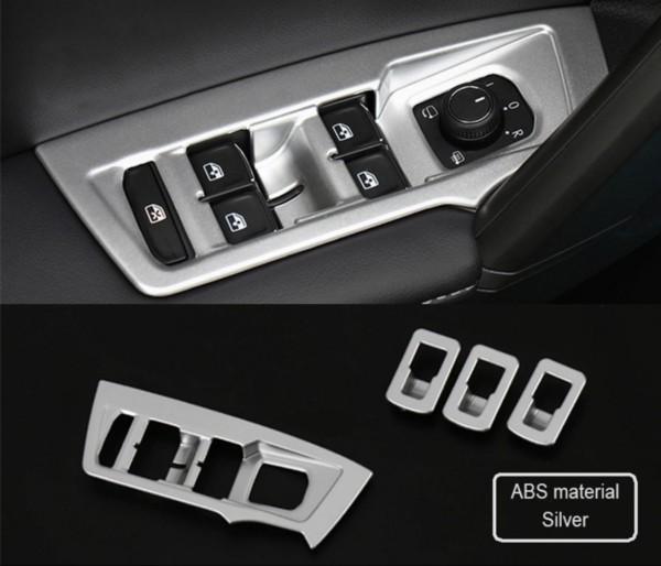Fensterheber Rahmen Blende Abdeckung ABS Silber Matt Passend Für VW Tiguan 2 AD1