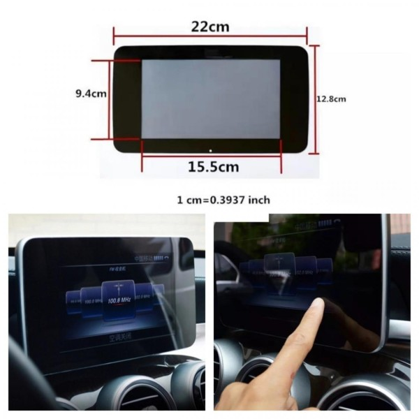 Tacho Radio Navi Display Schutz Glas Passend Für Mercedes A B C E GLA CLA GLK
