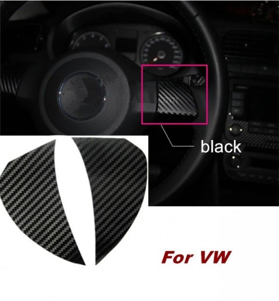 3D Carbon Folie für Lenkrad Passend Für VW Golf 6 Polo 6R Jetta MK5 MK6  in Schwarz