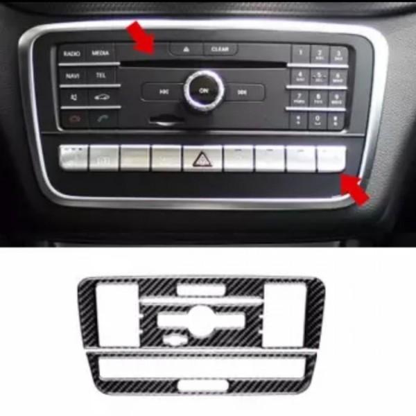 Radio Rahmen Blende Veredelung Passend Carbon Flex Für Mercedes Benz A B Klasse GLA CLA