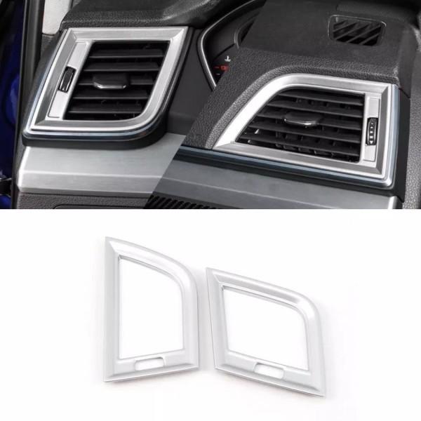 Lüftung Links Rechts Armaturenbrett Veredelung Abdeckung Rahmen Chrome Silber Matt Passend Für Audi Q5 SQ5 FY Ab BJ.2108