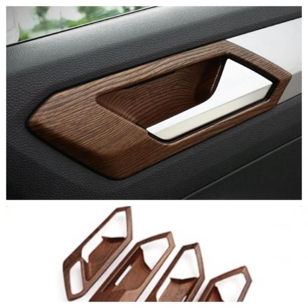 Handgriffe Rahmen Blende Abdeckung Holz Optik Passend Für VW T-Roc TDI TSI
