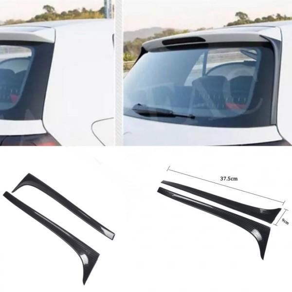 Heck Spoiler Flügel Seiten Abdeckung Rahmen Carbon Optik Passend Für VW Golf 7 MK7